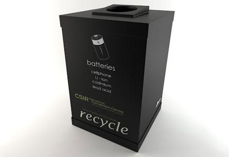 1 compartment Leather-Touch Recycling Bin