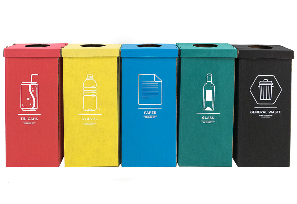 Fabric Coated Cardboard Bins