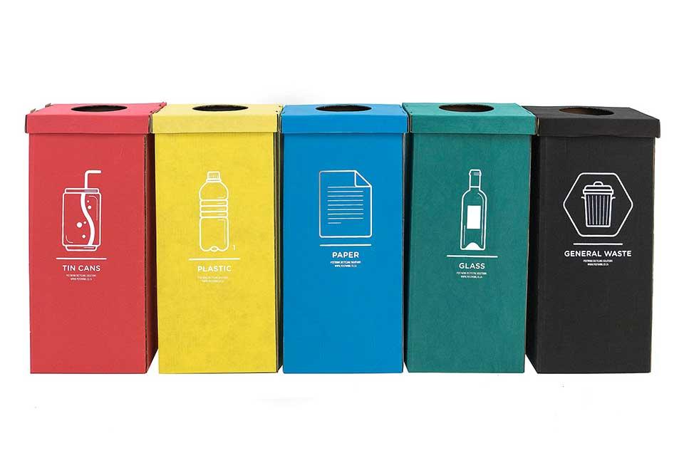 Fabric coated Cardboard Bin Office Recycling
